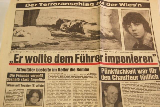Berichterstattung in der 'tz' über das Attentat auf dem Oktoberfest. Reprofoto: a.i.d.a.