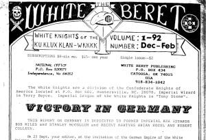 White Beret wurde von Dennis Mahon herausgegeben. (c) apabiz e.V.