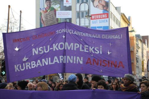 Demonstration in Berlin anlässlich des 5. Jahrestages der Selbstenttarnung des NSU Foto: Kilian Behrens / apabiz